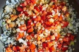 Cocinar Cebollas Tomates Ajo