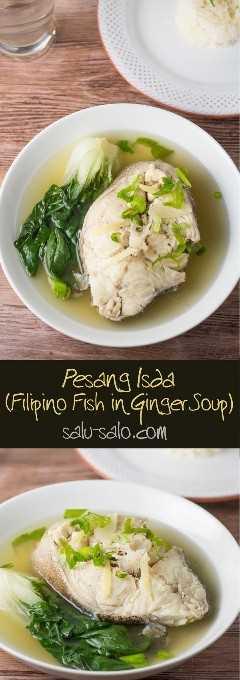 Pesang Isda (peixe na sopa de gengibre)