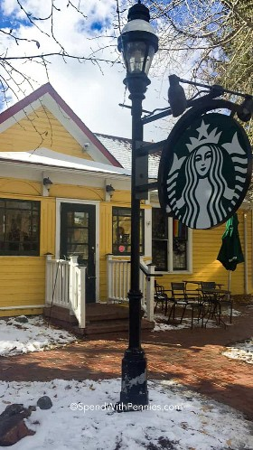 O mais bonito Starbucks em Breckenridge, CO.