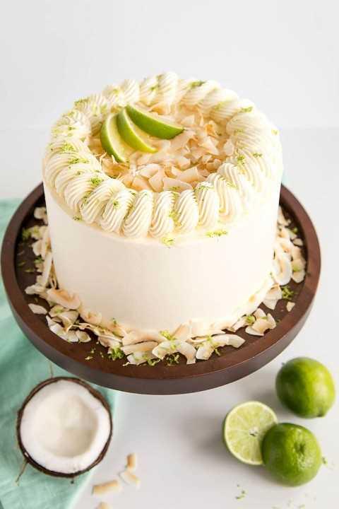Pastel De Coco Y Lima