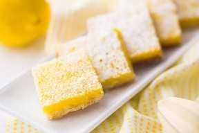 Receta de barras de limón a la antigua