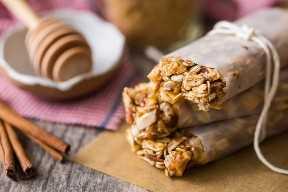 Receita de barra de granola não cozida