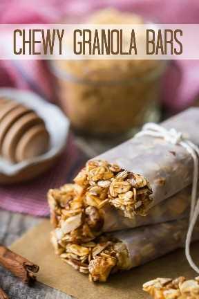 Receita fácil para barras de granola