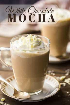 Receta fácil de chocolate blanco moca