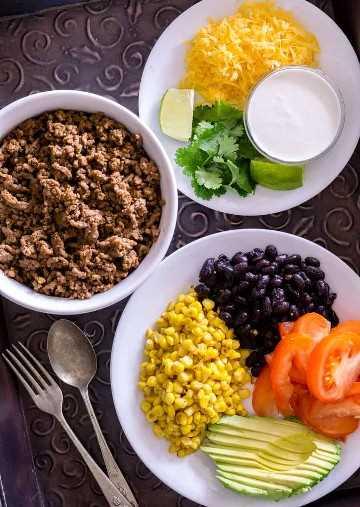Imagen de ingredientes para un taco.