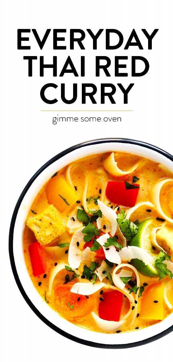 Receta de curry rojo tailandés