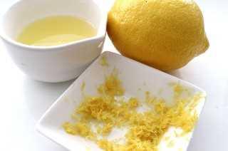 Jugo de limón y cáscara de limón