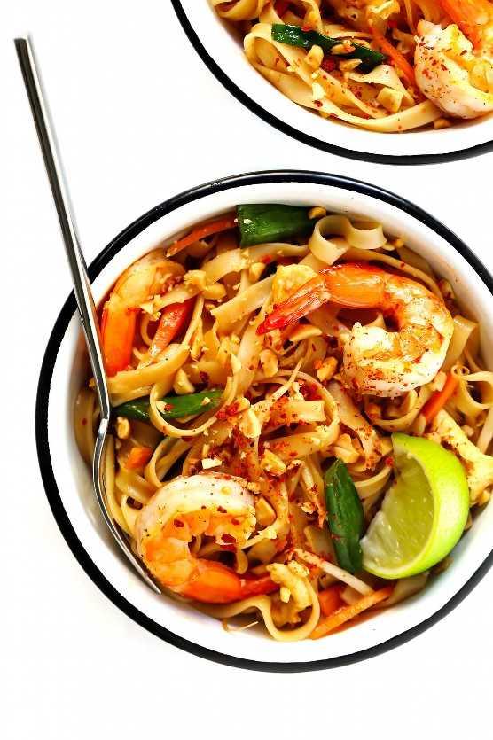 Receta Thai De Camarones