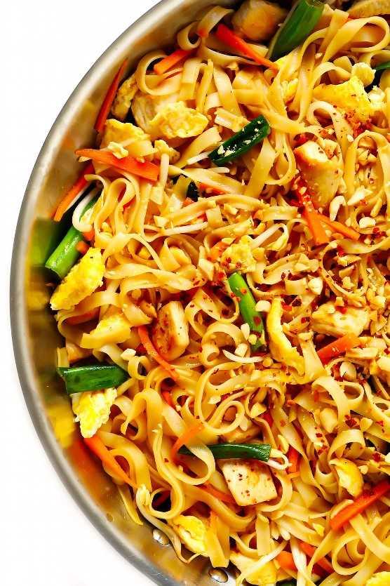 Fácil receta tailandesa de pad