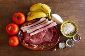 Ingredientes Rollitos De Carne Mexicana Con Bacon Y Banana