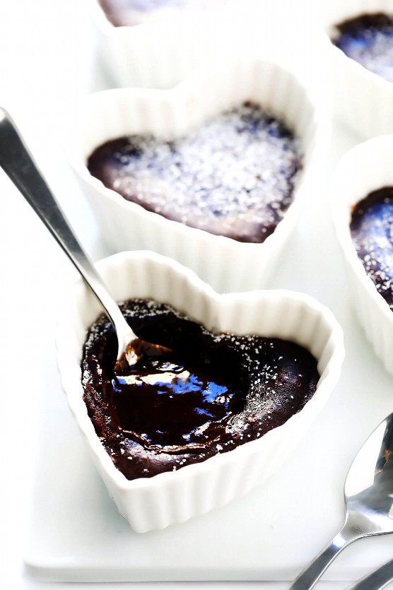 Pasteles de lava de chocolate para el futuro
