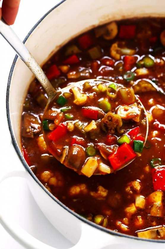 Receta Gumbo Vegetariana Con Coliflor
