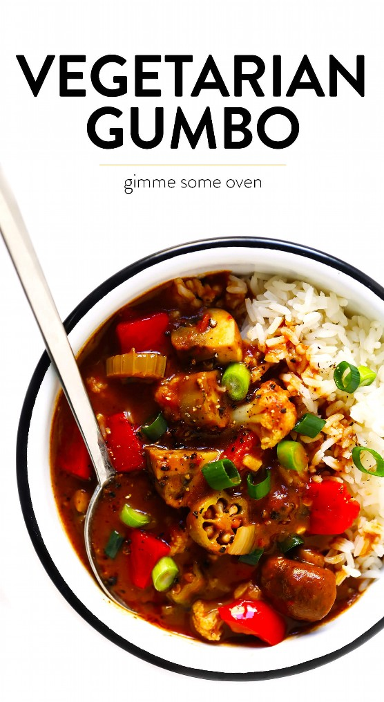 "Vegetarian Gumbo ""width ="" 1392 ""height ="" 2538 ""data-pin-description ="" Esta receta vegetariana de Gumbo es fácil de hacer, está hecha con MUCHAS verduras abundantes y está llena de los mejores sabores criollos. ¡Siéntase libre de servir esta receta de gumbo sobre arroz, quinua, fideos o lo que suene bien! | gimmesomeoven.com #gumbo #creole #cajun #soup #stew #dinner #mardigras #mealprep #vegetarian #freezermeals ""srcset ="" https://www.gimmesomeoven.com/wp-content/uploads/2019/02/Vegetarian-Gumbo -Recipe-with-Text.jpg 1392w, https://www.gimmesomeoven.com/wp-content/uploads/2019/02/Vegetarian-Gumbo-Recipe-with-Text-1100x2006.jpg 1100w, https: // www .gimmesomeoven.com / wp-content / uploads / 2019/02 / Vegetarian-Gumbo-Recipe-with-Text-768x1400.jpg 768w, https://www.gimmesomeoven.com/wp-content/uploads/2019/02/ Vegetarian-Gumbo-Recipe-with-Text-1145x2088.jpg 1145w ""tamaños ="" (ancho máximo: 1392px) 100vw, 1392px ""data-jpibfi-post-excerpt ="" ""data-jpibfi-post-url ="" https: //www.gimmesomeoven.com/vegetarian-gumbo/ ""data-jpibfi-post-title ="" Gumbo vegetariano ""data-jpibfi-src ="" https://www.gimmesomeoven.com/wp-content/uploads/2019/ 02 / Vegetarian-Gumbo-Recipe-with-Text.jpg ""/></p> </pre> <p></p> </div>"