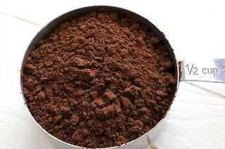 Polvo de cacao oscuro