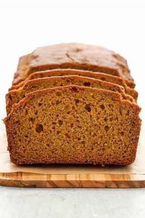 Este pan de calabaza clásico es fácil de hacer, perfectamente condimentado y lleno de sabor a calabaza. Usted puede disfrutar de este pan simple, agregar chips de chocolate o nueces!
