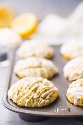 Muffins De Semillas De Amapola De Limón Húmedas