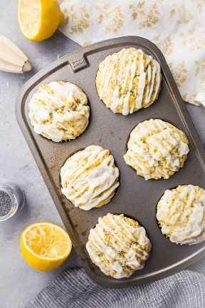Muffins de semilla de amapola de limón desde cero