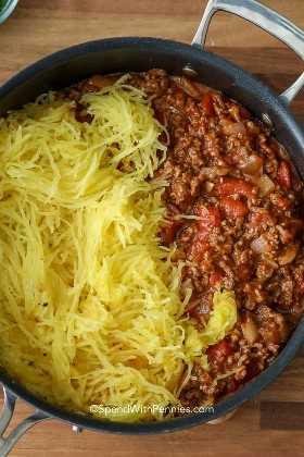 Ingredientes para la mejor receta de cazuela de espagueti.
