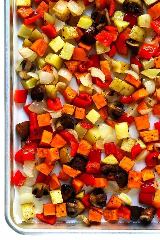 Verduras Asadas | Receta de cazuela de desayuno de otoño acogedor