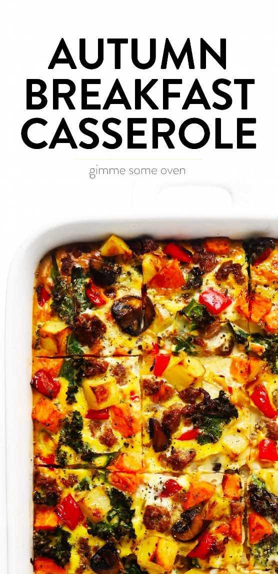 Acogedora receta de cazuela de desayuno de otoño de Gimme Some Oven
