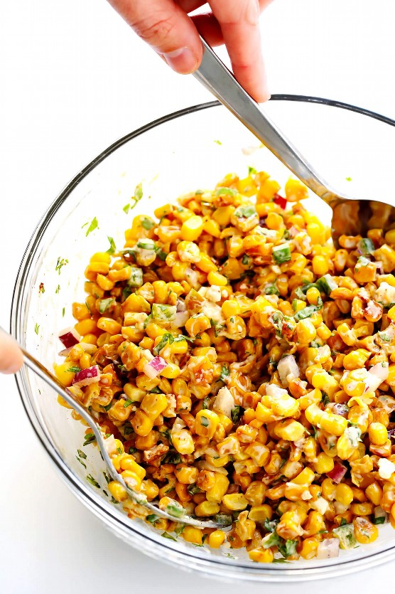 Dip de maíz de calle mexicana