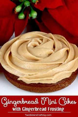 Mini tortas de pan de jengibre: sorprenda a sus invitados con una versión única de pastelitos que incluyen pastel de pan de jengibre casero y glaseado de pan de jengibre. Fácil y delicioso! Cuando necesitas algo un poco más sofisticado que una magdalena, estos mini pasteles de pan de jengibre son una excelente opción. El mismo gran sabor de la receta de la magdalena en un hermoso paquete de vacaciones. Pin esta deliciosa Idea de Postre de Navidad para más adelante y síganos para obtener más Ideas de Dulces de Navidad. #ChristmasCake #ChristmasDesserts #ChristmasTreats #Gingerbread