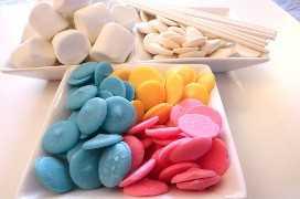 Ingredientes para Celebration Marshmallow Pops
