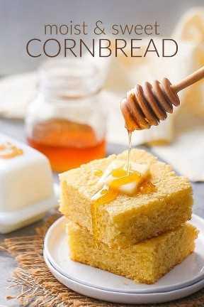 Receta de pan de maíz dulce