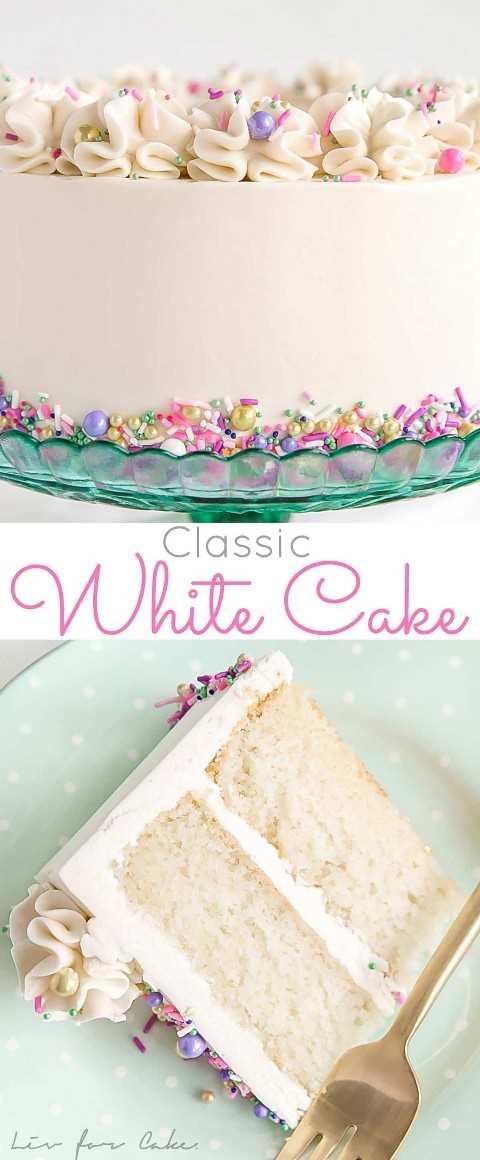 Esta receta clásica de bizcocho blanco combina capas de bizcocho de vainilla con una crema de mantequilla de merengue suizo blanco y sedoso.