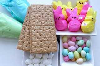 Ingredientes para Peeps Graham Crackers