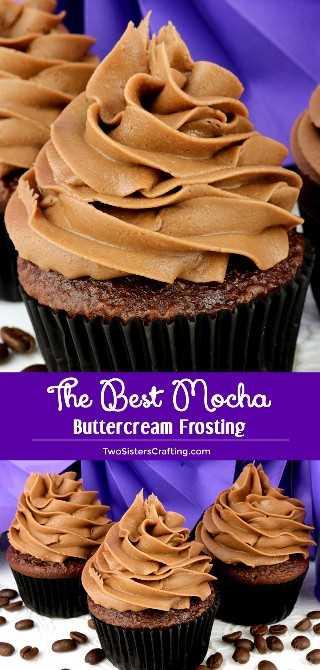 The Best Mocha Buttercream Frosting es una deliciosa combinación de chocolate y café en una crema cremosa y fácil de hacer. El Chocolate Frosting nunca supo tan bien o fue más fácil de hacer. ¡Pincha esta gran idea de Frosting para más adelante y síguenos para obtener más recetas de Frosting! #MochaFrosting #BestFrosting #BestButtercreamFrosting #Buttercream #Mocha #Chocolate #Frosting #TwoSistersCrafting