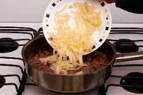 Agregar las cebollas