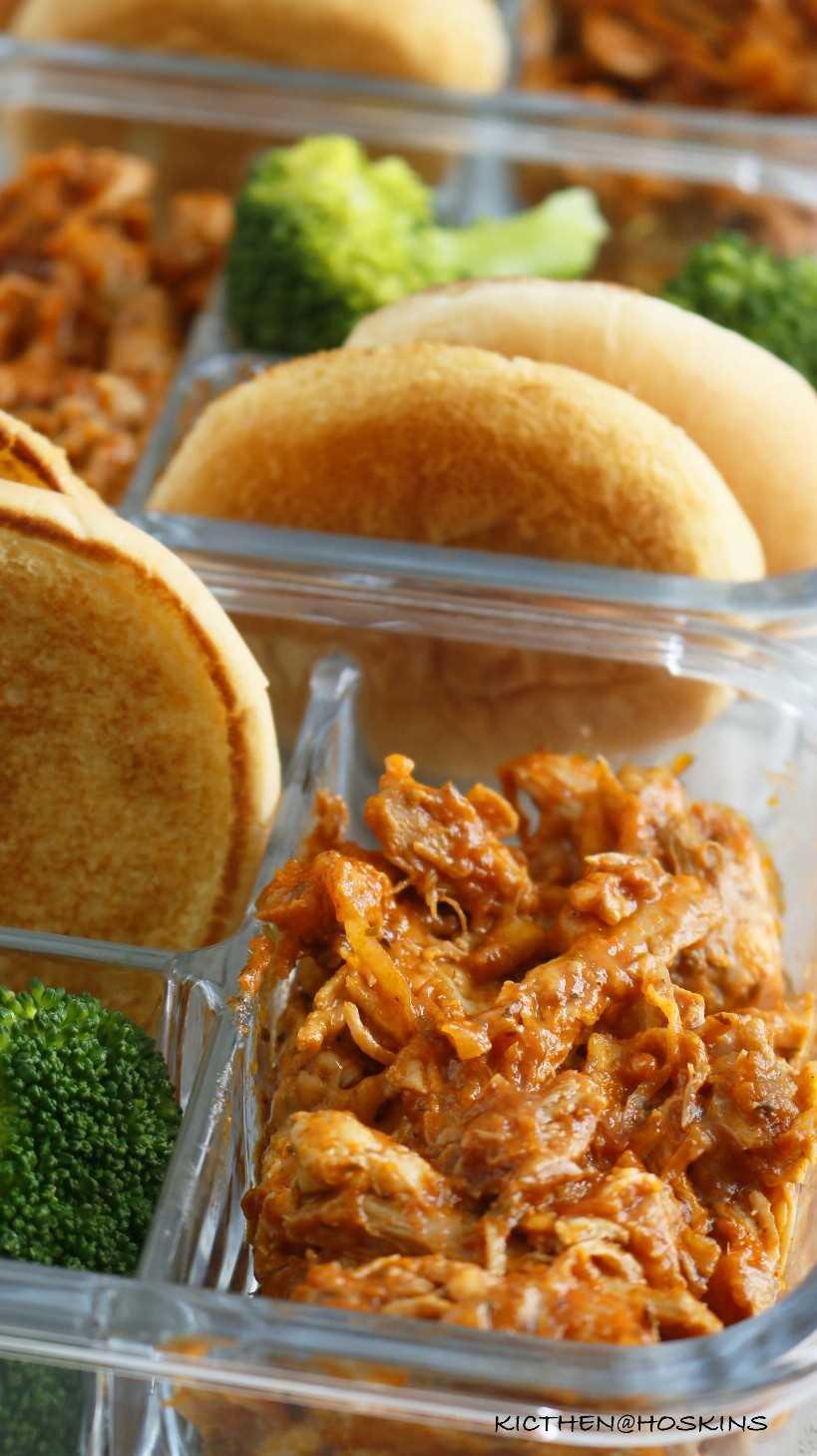 preparación de comida de sándwich de parmesano de pollo olla instantánea