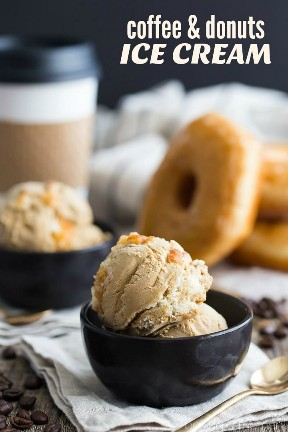 Helado de café y donas: * podría * ser el mejor sabor de helado de todos los tiempos.
