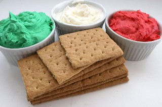 Ingredientes para la Navidad Frosted Graham Crackers