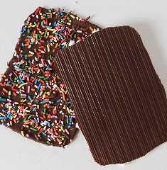 Corteza de chocolate con patrones asombrosos en la espalda! ¡Tan fácil de hacer!