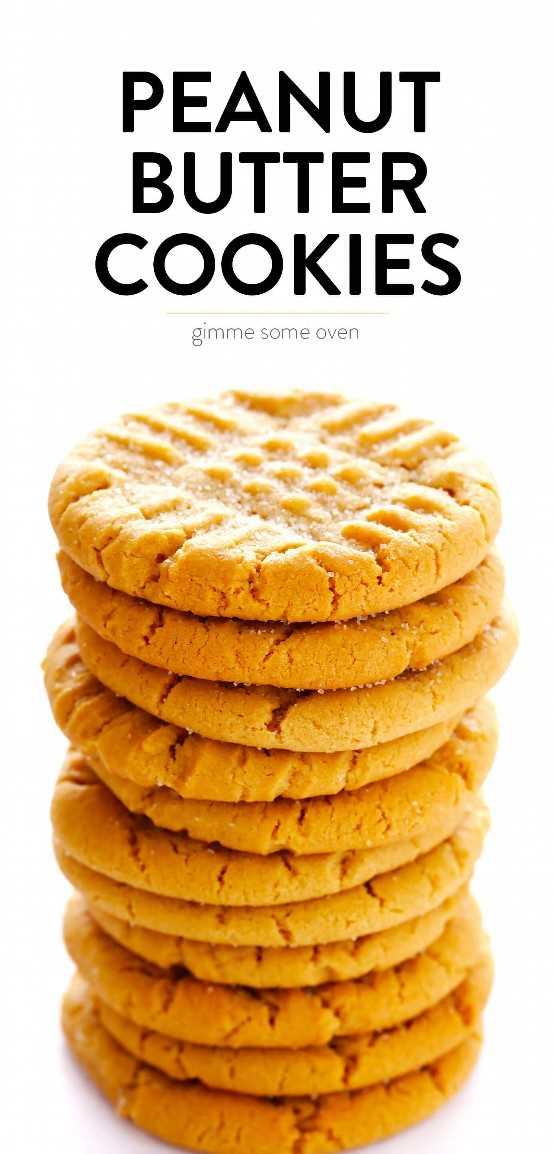 Receta de galletas de mantequilla de maní suave