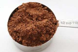 Polvo de cacao para el mejor glaseado de queso con crema de chocolate