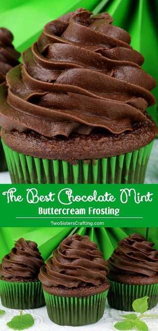 The Best Chocolate Mint Buttercream Frosting es la combinación perfecta de chocolate y menta en una ¡fácil de hacer glaseado de mantequilla casero! Si te gusta Thin Mints te encantará este Frosting casero. ¡Pincha esta gran idea de Frosting para más adelante y síguenos para obtener más recetas de Frosting! #ChocolateMintFrosting #BestFrosting #ChocolateFrosting #Buttercream #Mint #Icing #Frosting #TwoSistersCrafting