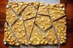 ¡Mantequilla de maní y chocolate de malvavisco, corteza de chocolate!
