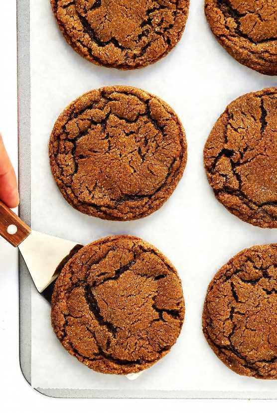 Receta de galletas de melaza de jengibre masticable