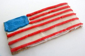 Cómo hacer American Flag Frosted Graham Crackers