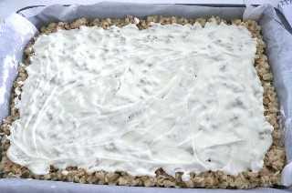 Capa de chocolate blanco