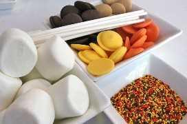 Ingredientes para Harvest Marshmallow Pops
