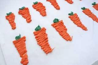 Dulce Melt zanahorias decoración