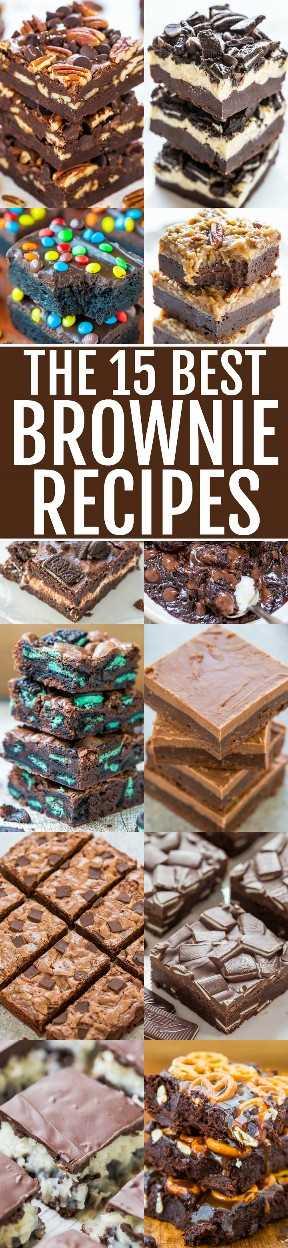 Las 15 mejores recetas de brownie - ¡Las MEJORES 15 recetas de brownie de rasguño que son RÁPIDAS, FÁCILES y decadentes! Si AMAS los brownies súper fudgy y ricos y eres un chocaholic, ¡GUARDE estas recetas!