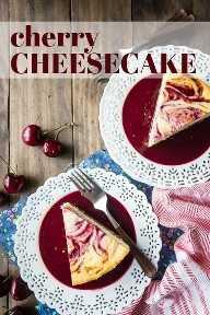 Receta de pastel de queso de cereza de Nueva York