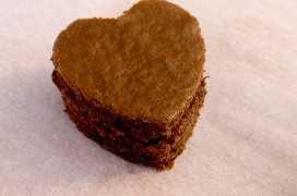 Corazones de chocolate pastel picaduras