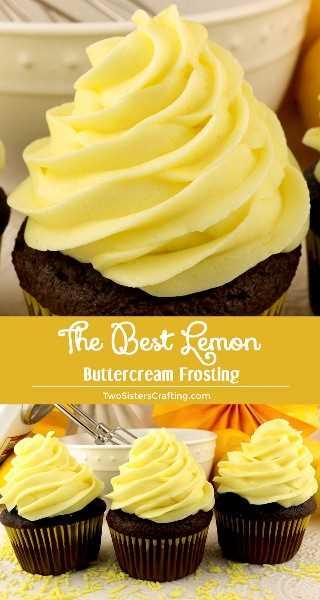 Cuando la vida te dé limones, haz este delicioso mejor helado de crema de mantequilla de limón. Brillante, fresco, cremoso y de limón. Este es un glaseado de crema de mantequilla de limón casera tradicional que a todos les encantará. Y es tan fácil de hacer. ¡Este sabroso glaseado hará que todo lo que le pongas a probar mejor! ¡Síguenos para más excelentes recetas de Frosting! #Lemon # LimónFrosting #ButtercreamFrosting #BestFrosting #BestButtercreamFrosting #Buttercream #Frosting #TwoSistersCrafting