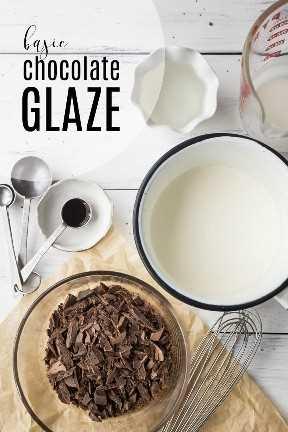 Quatro ingredientes para uma cobertura de chocolate básica,
